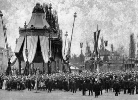 Az 1896-os megnyitó ünnepség.