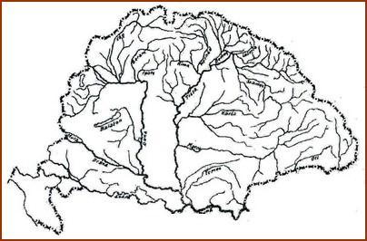 Nagy magyarország vízrajzi térképe